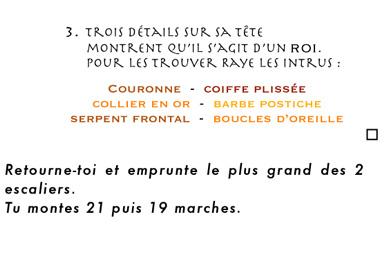 Extrait livret enfant - jeu de piste Les égyptions au Louvre