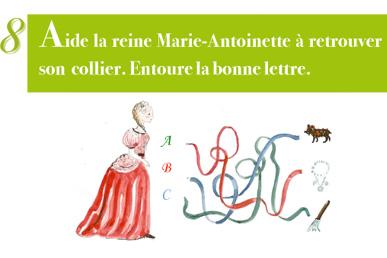 Extrait livret enfant - jeu de piste Parc de Versailles