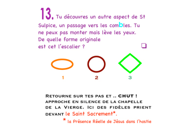 Extrait du livret enfant - jeu de piste Saint-Sulpice