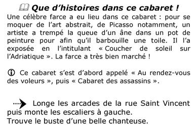 Extrait du livret adulte - Jeu de piste Village de Montmartre