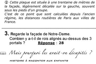 Extrait livret adulte - jeu de piste Notre-Dame de Paris