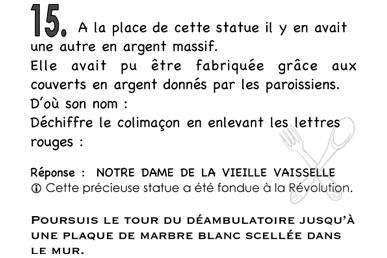 Extrait du livret adulte - jeu de piste Saint-Sulpice
