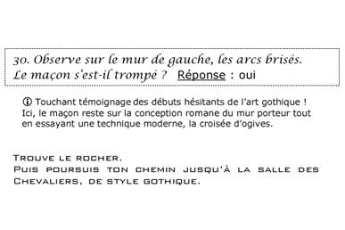 Extrait du livret adulte - jeu de piste Mont Saint Michel