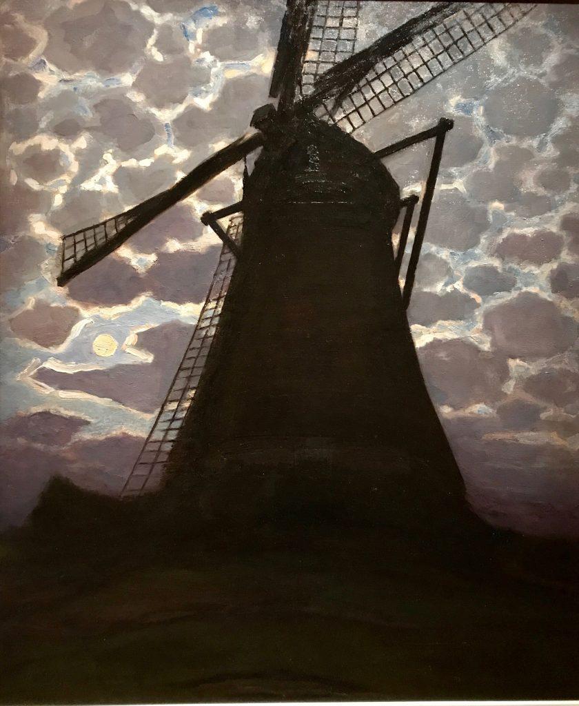Mondrian-Moulin à vent le soir 1917